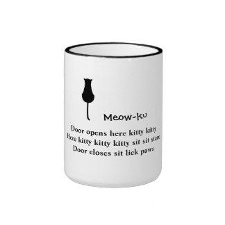Sit and Stare: Meow-ku (not a haiku) Mug