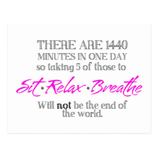 Sit-Relax-Breathe Postcard