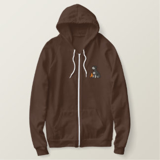 Sit Schnauzer Rally-O Embroidered Hoodie