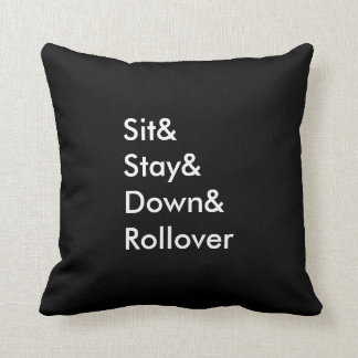Sit& Stay& Down& Rollover Pillow