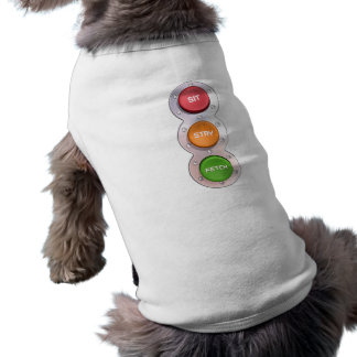 SIT STAY & FETCH in colour Sleeveless Dog Shirt
