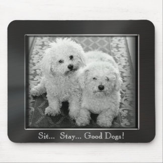 Sit Stay Good Dogs Photo Frame Mousepad