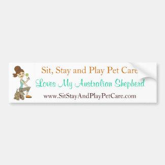 Sit Stay&Play Pet Care Love My Australian Shepherd Bumper Sticker