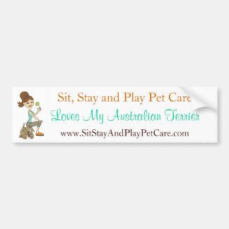 Sit, Stay&Play Pet Care Love My Australian Terrier Bumper Sticker