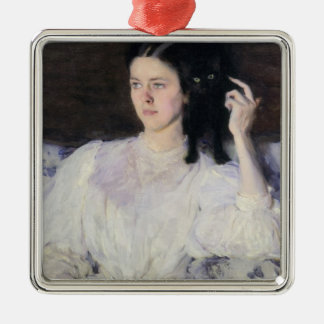 Sita and Sarita, or Young Girl with a Cat Christmas Ornament