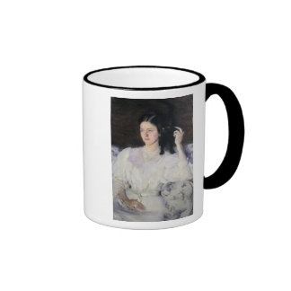 Sita and Sarita, or Young Girl with a Cat Ringer Coffee Mug