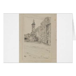 Site of the Antonia Tower by James Tissot Greeting Card