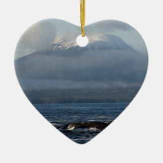 Sitka Alaska Souvenir Gifts Ceramic Heart Decoration