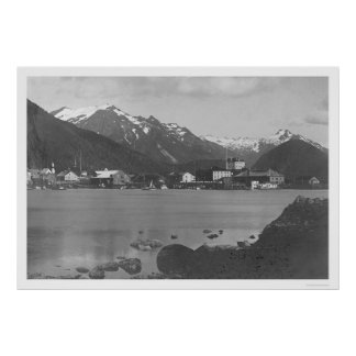 Sitka Harbor Alaska 1908 Print