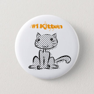 Sitting #1 Kitten 6 Cm Round Badge