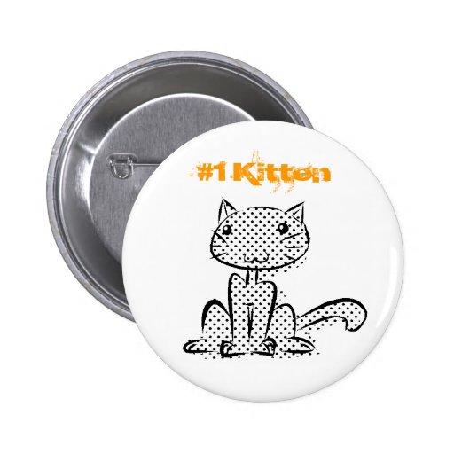 Sitting #1 Kitten Button
