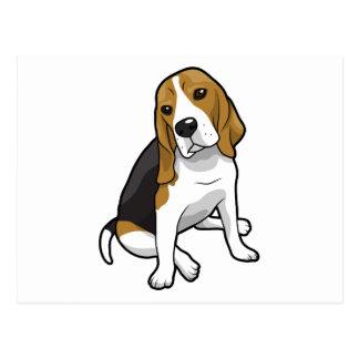 Sitting Beagle Postcard