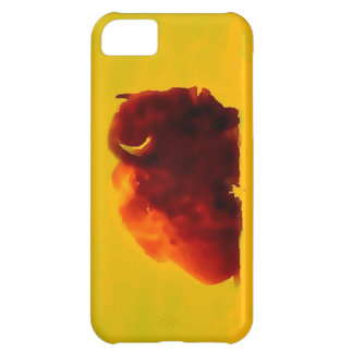 Sitting Bison Silhouette iPhone 5C Case