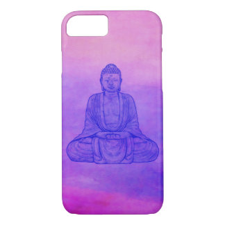 Sitting Buddha on Watercolor Wash iPhone 7 Case