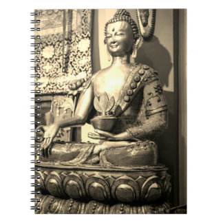 Sitting Buddha Statue Spiral Notebooks