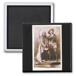 Sitting Bull and Buffalo Bill 1895 Refrigerator Magnets