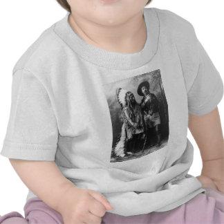 Sitting Bull and Buffalo Bill Portrait from 1885 T-shirts