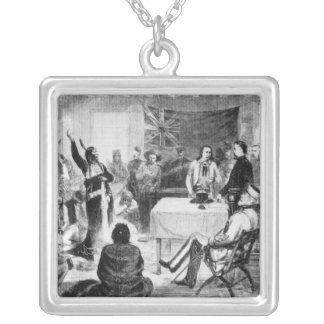 Sitting Bull Council, 1877 Square Pendant Necklace