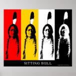 Sitting Bull in multicolor Poster