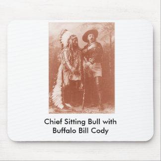 sitting bull w buffalo bill, Chief Sitting Bull... Mouse Mat