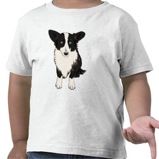Sitting Cardigan Welsh Corgi Illustration Tee Shirts