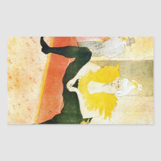 Sitting Clown by Toulouse-Lautrec Rectangle Sticker