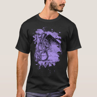 Sitting Demon - bleached violet T-Shirt