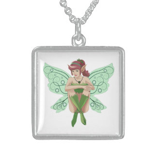 SITTING FAIRY STERLING SILVER NECKLACE