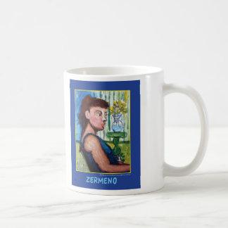 """Sitting for Zermeno"" German Expressionist Classic White Coffee Mug"