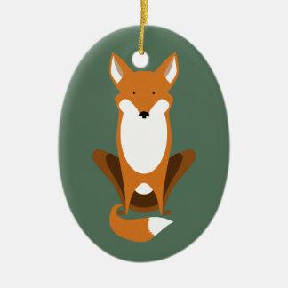 Sitting Fox Christmas Ornament