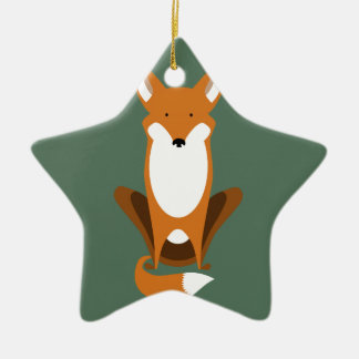 Sitting Fox Christmas Ornament