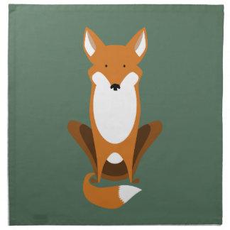 Sitting Fox Napkin