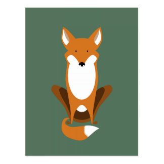Sitting Fox Postcard
