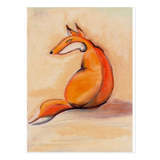 Sitting Fox Postcard