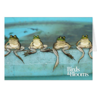 Sitting Frogs Card