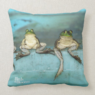 Sitting Frogs Cushion