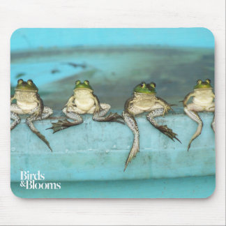 Sitting Frogs Mouse Mat