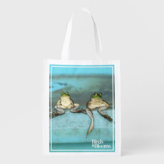 Sitting Frogs Reusable Grocery Bag