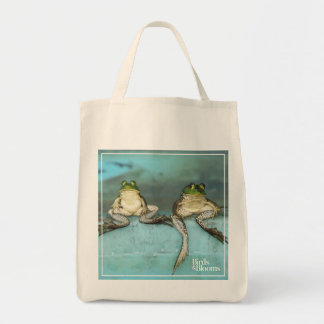 Sitting Frogs Tote Bag