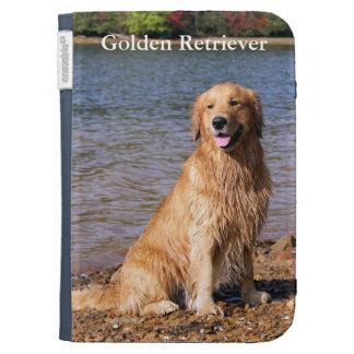 Sitting Golden Retriever Kindle Keyboard Cases