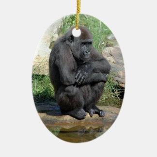 Sitting Gorilla Ornament