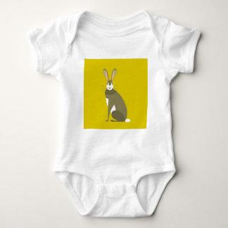 Sitting Hare Baby Bodysuit