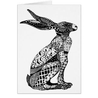 Sitting Hare Card