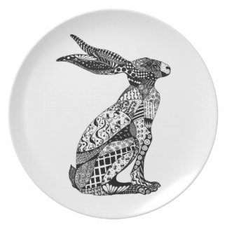 Sitting Hare Plate