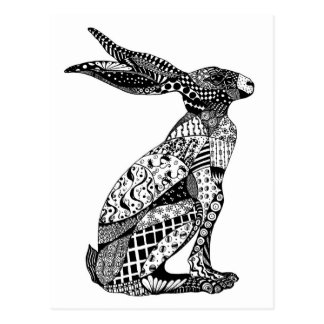 Sitting Hare Postcard