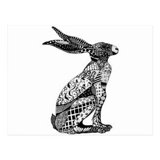 Sitting Hare Postcard