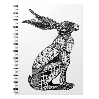 Sitting Hare Spiral Note Book