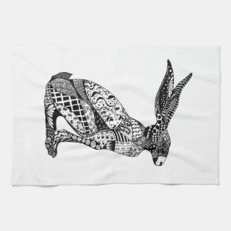 Sitting Hare Tea Towel