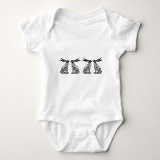 sitting hares baby bodysuit