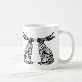 Sitting Hares Coffee Mug